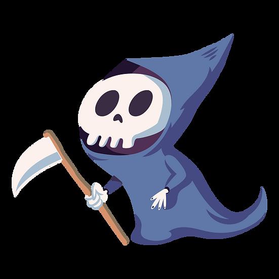 Halloween Grim Reaper Printables PNG Image  - Editable / Downloadable