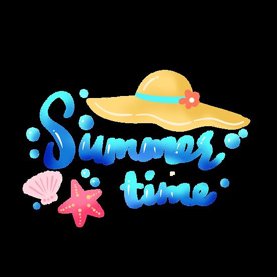 Summer Time Clipart - Free PNG Images, Transparent Image Digital Download