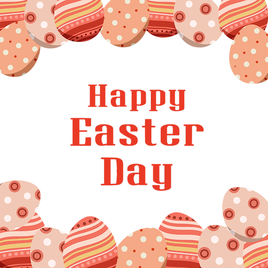 Happy Easter Day Awesome Greeting Card - Transparent Image - Instant Download