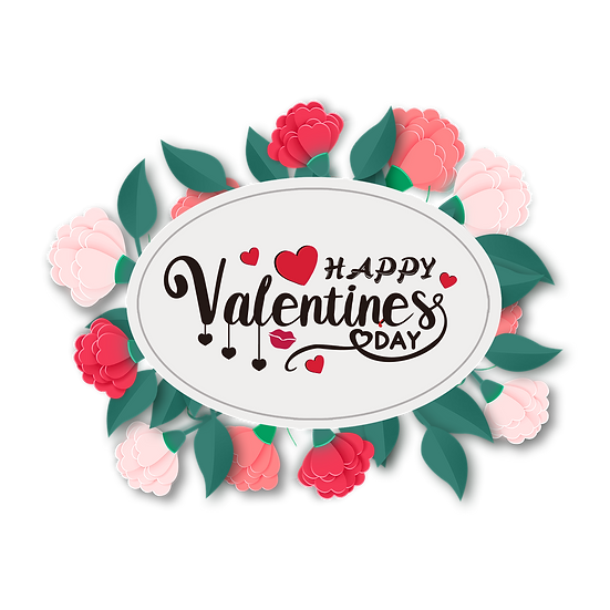 Happy Valentine's Day Wonderful Greeting Card PNG Image - Instant Download