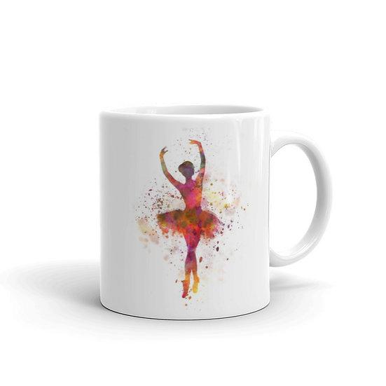 Watercolor Ballerina Coffee Cup Mug for Coffee / Tea White Ceramic Mugs 11/15 oz1