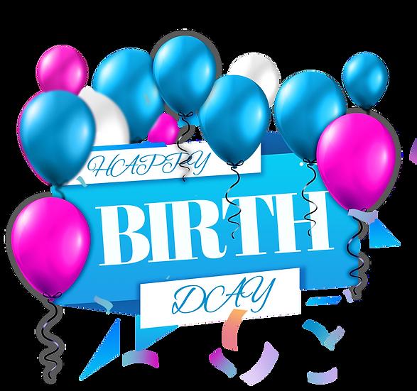 Happy Birthday Greeting Card - PNG Transparent Image - Digital Download