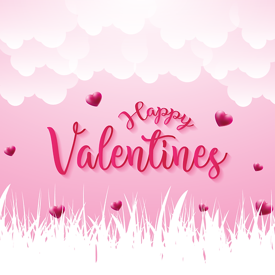 Happy Valentines Cute Greeting Card PNG Image - Instant Download