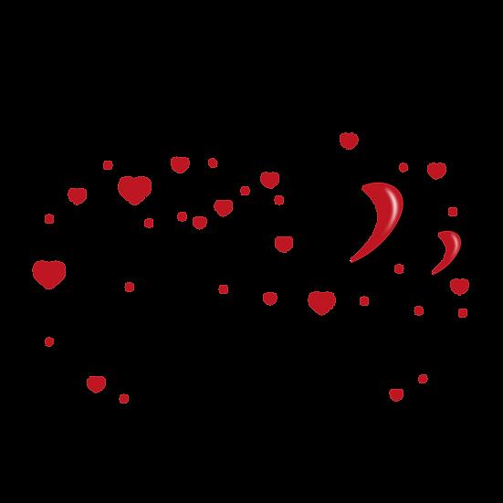 Happy Valentines Inscription - PNG Transparent Image - Instant Download