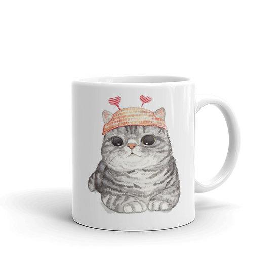 Watercolor Cute Cat Kitty Coffee Cup Mug for Coffee / Tea White Ceramic Mugs1
