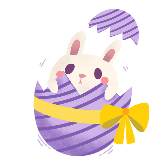 Cute Bunny in the Egg - Easter PNG Transparent Image - Instant Download