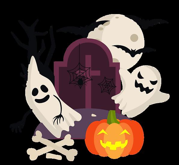 Halloween Ghosts Printables PNG Image  - Editable / Downloadable