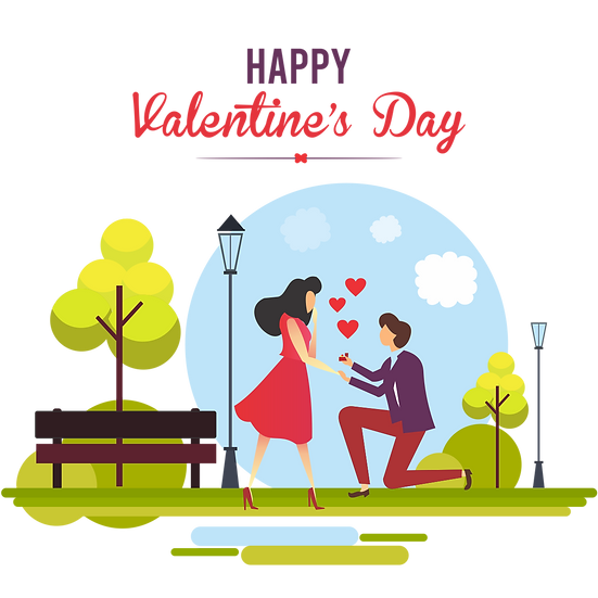 Valentine's Day Marriage Propose - PNG Transparent Image - Instant Download