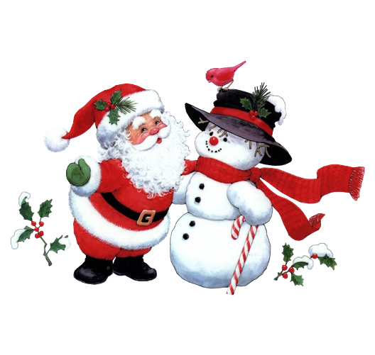 Santa Claus and his Friend Snowman Free PNG Images - Free Digital Image Download