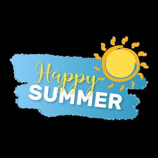 Happy Summer Sunny Clipart - Free PNG Images, Transparent Image Digital Download