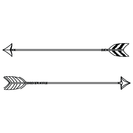 Dark Feather Arrow - Free PNG Images, Transparent Image Instant Download