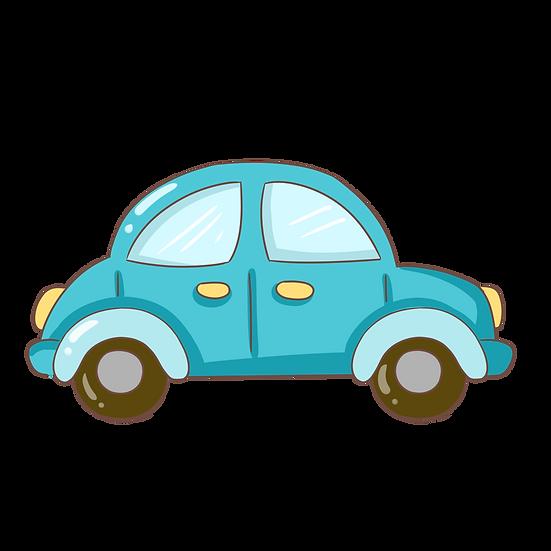 Blue Car Illustration - Free PNG Images, Transparent Image Instant Download