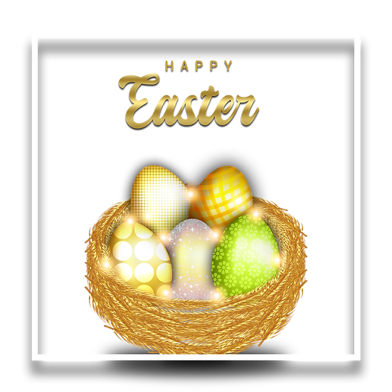 Happy Easter Incredible Greeting Card - PNG Transparent Image - Instant Download