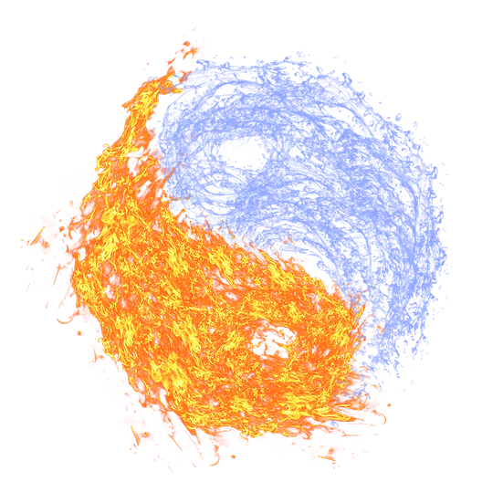 Fire and Water Clipart - Free PNG Fire Image, Transparent Image Digital Download
