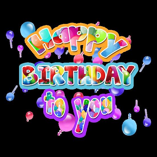 Magical Birthday Greeting Card - PNG Transparent Image - Digital Download