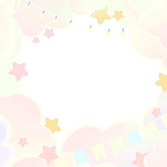 Festive Border with Clouds - Free PNG Images, Transparent Image Instant Download