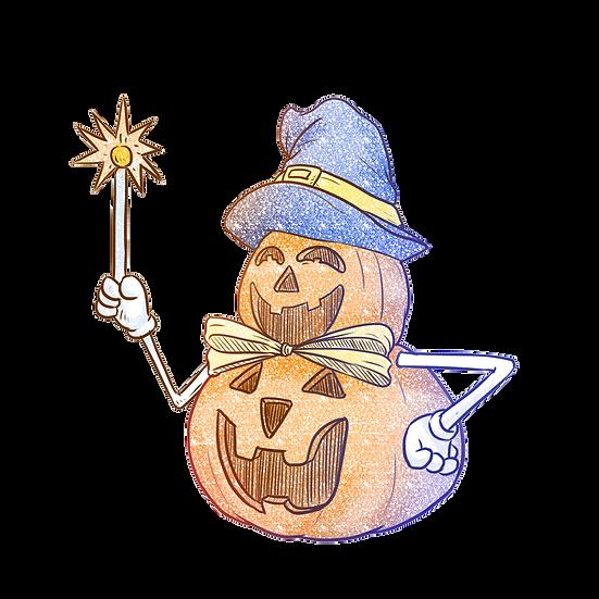 Halloween Snowman Printables PNG Image  - Editable / Downloadable