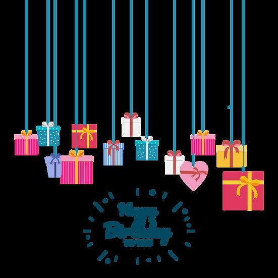 Amazing Birthday Greeting Card - PNG Transparent Image - Digital Download