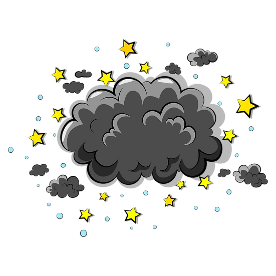 Dark Clouds with Stars - Free PNG Images, Transparent Image Digital Download