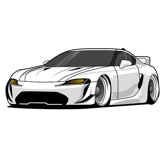 Luxury White Sports Car - Free PNG Images, Transparent Image Digital Download