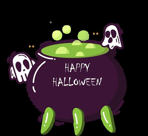 Happy Halloween Pot Printables PNG Image  - Editable Downloadable