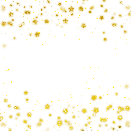 Bright Shining Stars Border - Free PNG Image, Transparent Image Instant Download
