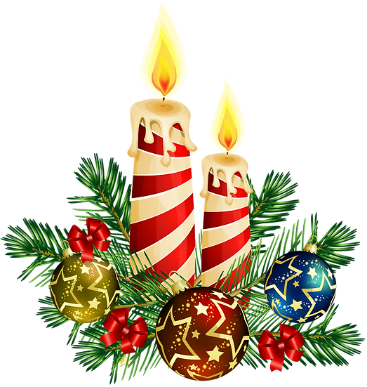 Christmas Candles Free PNG Images - Free Digital Image Download