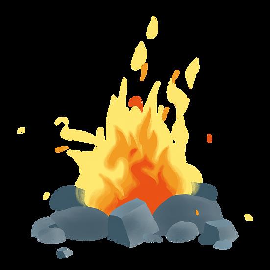 Bonfire Clipart - Free PNG Fire Images, Transparent Image Instant Download