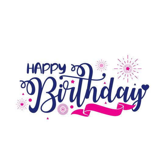 Wonderful Birthday Clipart - PNG Transparent Image - Digital Download