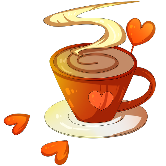 Coffee Time - Valentine's Day PNG Transparent Image - Instant Download