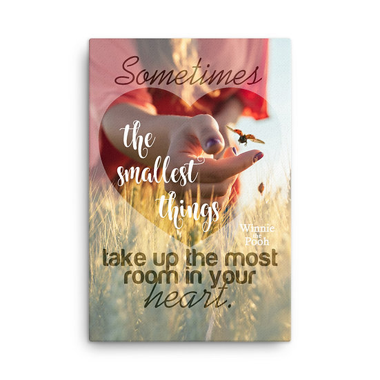 Winnie the Pooh Quotes The Smallest Things Canvas Size 24х36