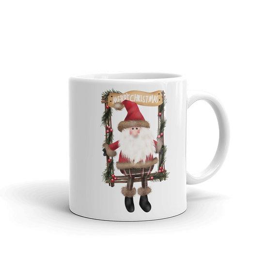 Merry Christmas from Santa Claus Mug for Coffee / Tea, White Ceramic