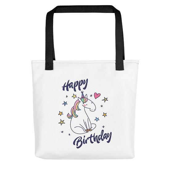 Happy Birthday Party Unicorn Tote bag