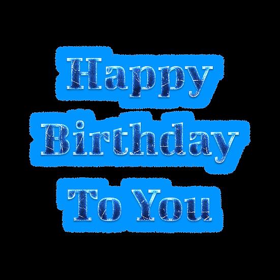 Happy Birthday Winter Design PNG Transparent Image - Digital Instant Download