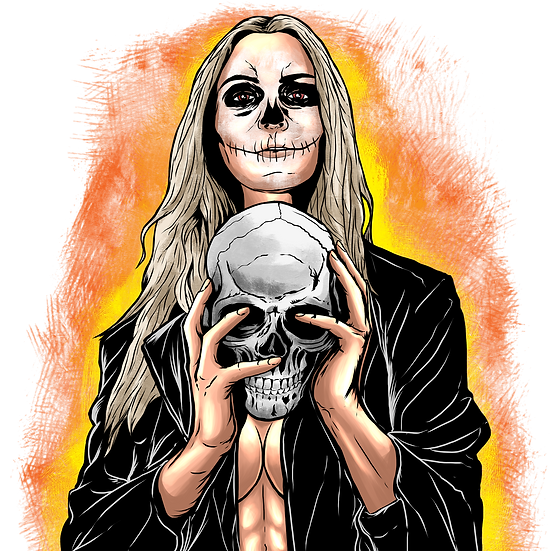 Halloween Zombie Woman Printables PNG Image  - Editable / Downloadable