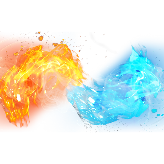 Water and Fire Clipart - Free PNG Images, Transparent Image Digital Download