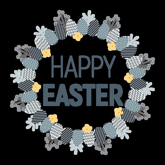 Lovely Easter Greeting Card - Easter PNG Transparent Image - Instant Download