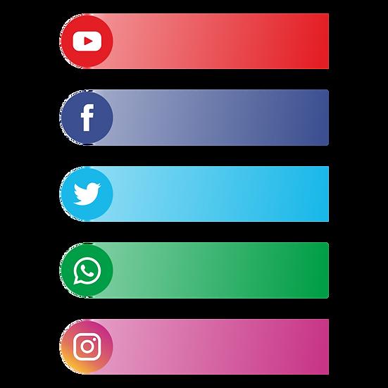 Social Media Banner - Free PNG Images, Transparent Image Digital Download