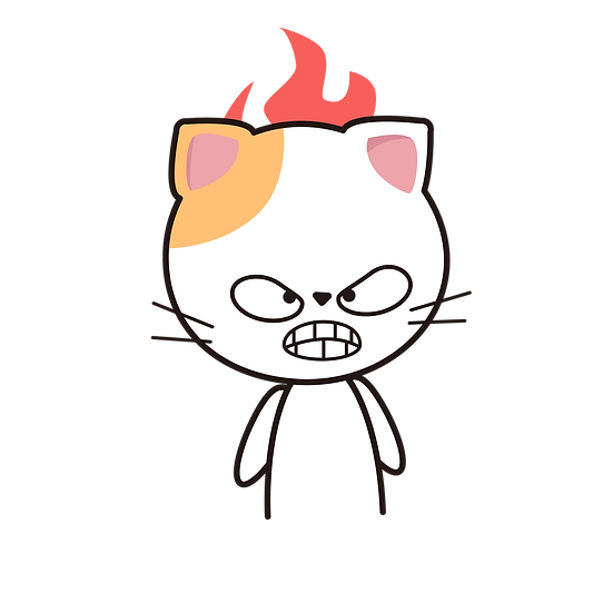 Angry Cat and Fire - Free PNG Images, Transparent Image Instant Download