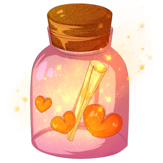 Wishing Jar with Hearts - Free PNG Images, Transparent Image Instant Download