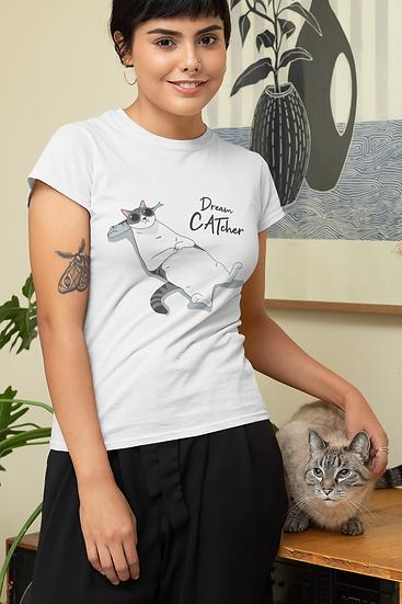 DREAM CATcher Funny Tshirt for Women - Cat lover Women's Shirt Tees