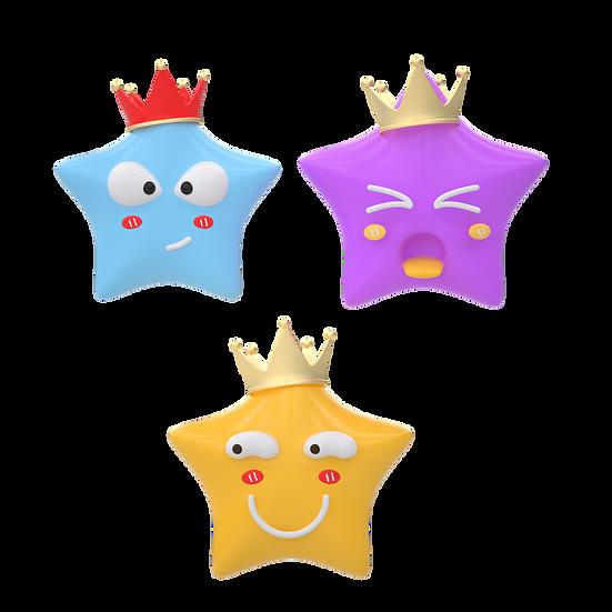 Cartoon Stars Emoji - Free PNG Images, Transparent Image Digital Download