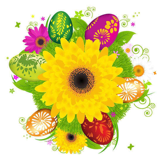 Magical Easter Greeting Card - Easter PNG Transparent Image - Instant Download
