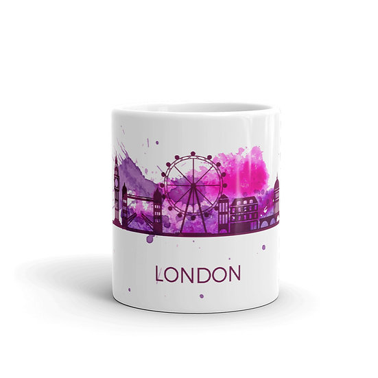 Watercolor London Big Ben British Coffee Cup Mug for Coffee / Tea White Ceramic1