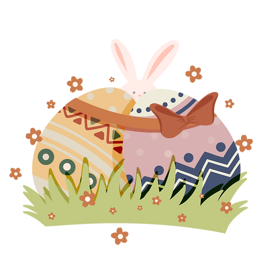 Cute Easter Clipart - Easter PNG Transparent Image - Instant Download