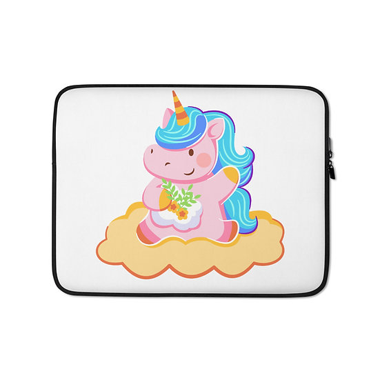 Cute Unicorn in the Clouds Laptop Sleeve for MacBook, HP, ACER, ASUS, Dell