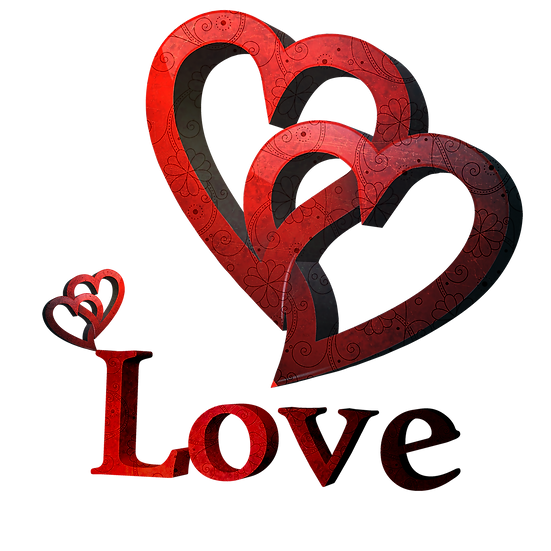 Double Hearts Clipart - Free PNG Images, Transparent Image Digital Download