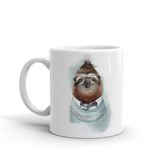 Watercolor Sloth Coffee Cup Mug for Coffee / Tea White Ceramic Mugs 11/15 oz1