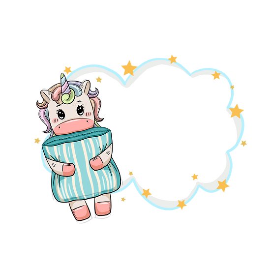 Unicorn with Pillow - Free PNG Cloud Images, Transparent Image Digital Download