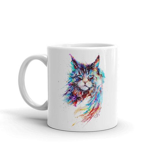 Watercolor  Lynx Coffee Cup Mug for Coffee / Tea White Ceramic Mugs 11/15 oz1